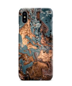 Golden Black Marble with Veins for iPhone XS Max Case Cover