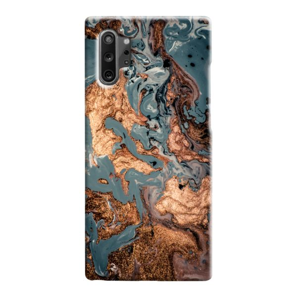Golden Black Marble with Veins for Samsung Galaxy Note 10 Case Cover