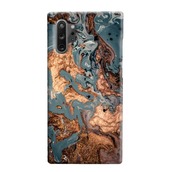 Golden Black Marble with Veins for Samsung Galaxy Note 10 Plus Case