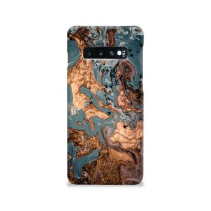 Golden Black Marble with Veins for Samsung Galaxy S10 Case