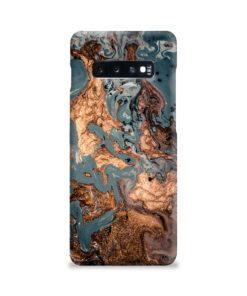 Golden Black Marble with Veins for Samsung Galaxy S10 Plus Case Cover