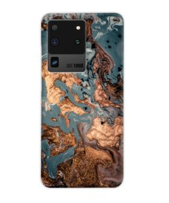 Golden Black Marble with Veins for Samsung Galaxy S20 Ultra Case Cover