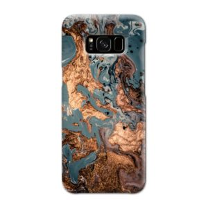 Golden Black Marble with Veins for Samsung Galaxy S8 Case