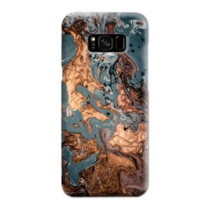 Golden Black Marble with Veins for Samsung Galaxy S8 Plus Case Cover