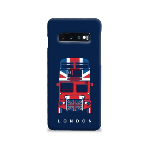 London Red Bus Art Samsung Galaxy S10 Case