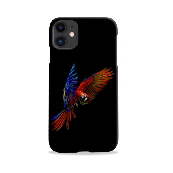 Macaw Parrot Flying iPhone 11 Case