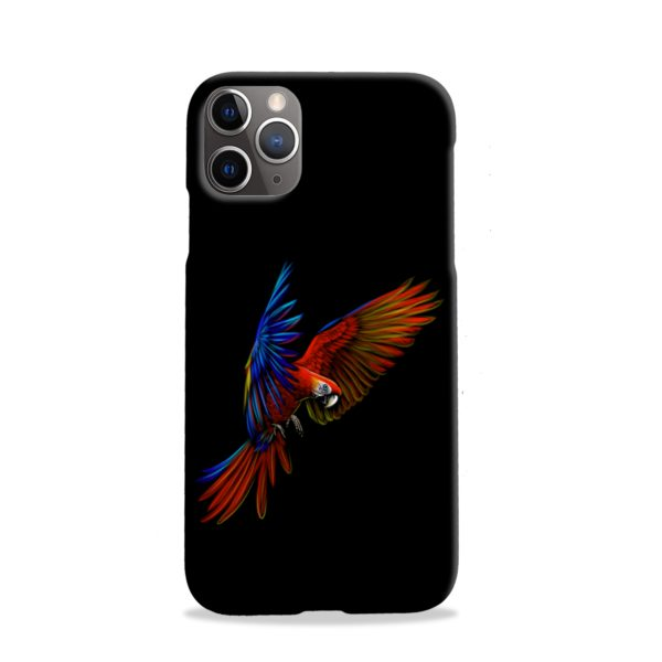 Macaw Parrot Flying iPhone 11 Pro Case