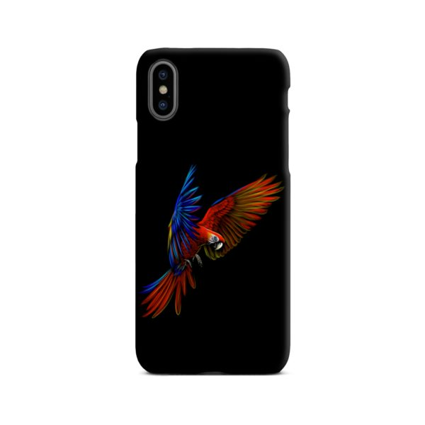 Macaw Parrot Flying iPhone X / XS Case