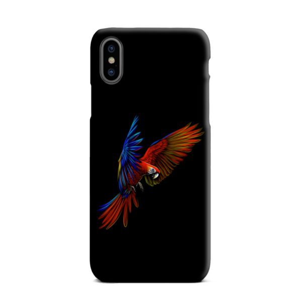 Macaw Parrot Flying iPhone XS Max Case