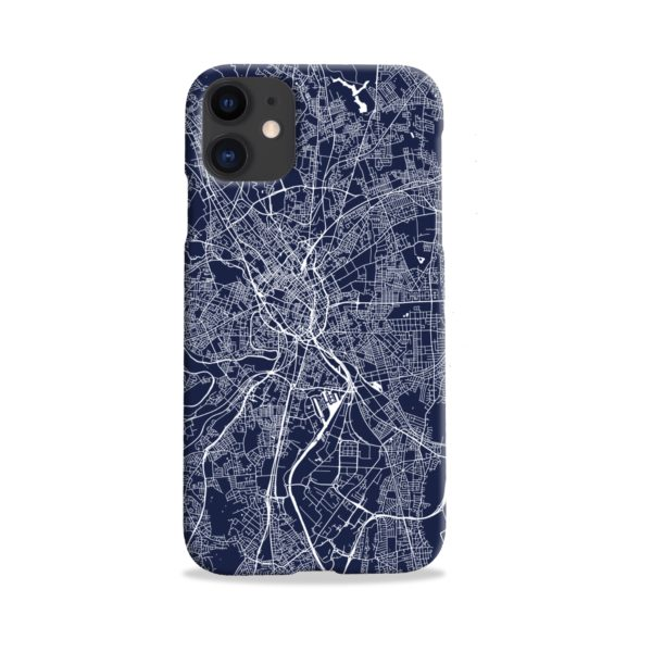 Manchester England Map iPhone 11 Case