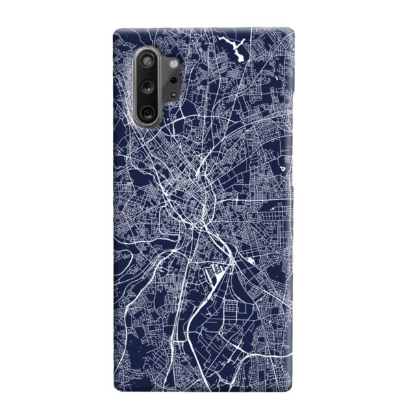 Manchester England Map Samsung Galaxy Note 10 Plus Case