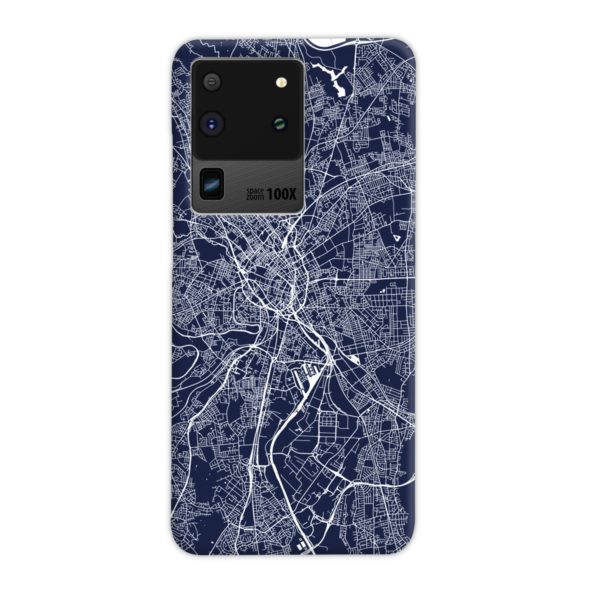 Manchester England Map Samsung Galaxy S20 Ultra Case