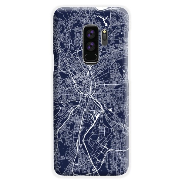 Manchester England Map Samsung Galaxy S9 Plus Case