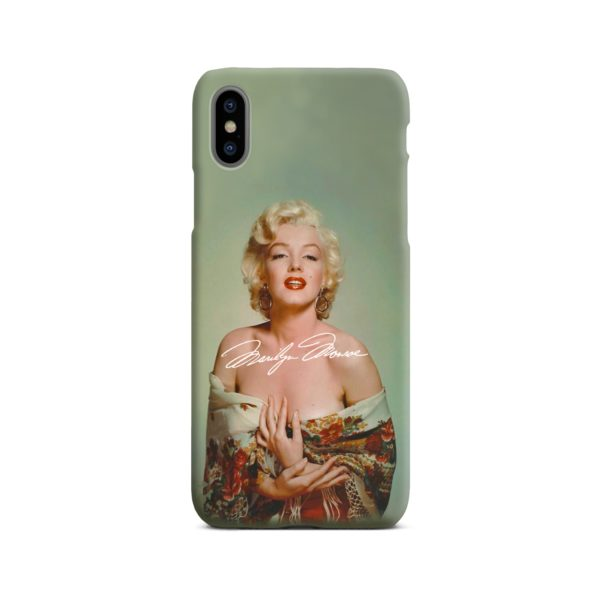 Marilyn Monroe Poster Signature for iPhone X / XS Case Cover