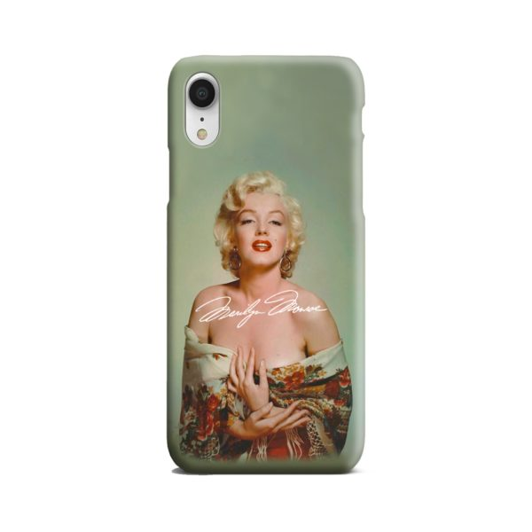Marilyn Monroe Poster Signature for iPhone XR Case Cover
