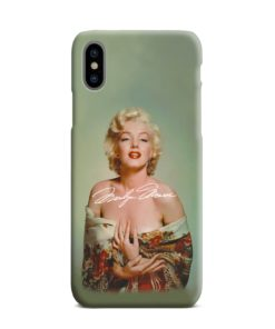 Marilyn Monroe Poster Signature for iPhone XS Max Case