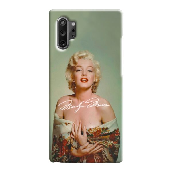 Marilyn Monroe Poster Signature for Samsung Galaxy Note 10 Case Cover