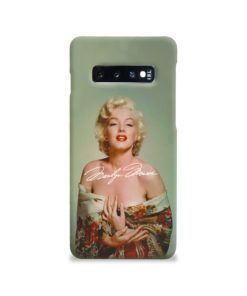 Marilyn Monroe Poster Signature for Samsung Galaxy S10 Case Cover