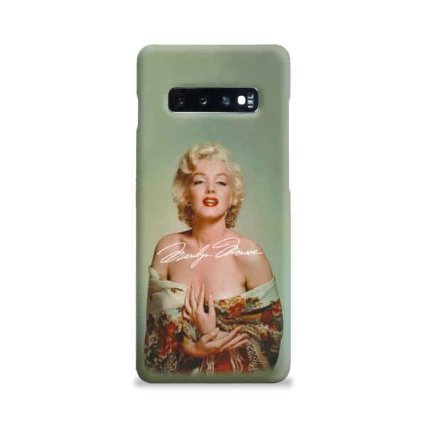 Marilyn Monroe Poster Signature for Samsung Galaxy S10 Plus Case Cover