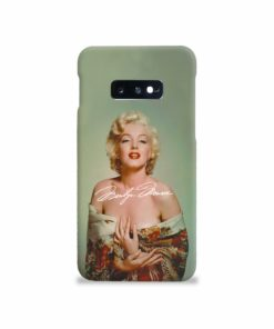 Marilyn Monroe Poster Signature for Samsung Galaxy S10e Case