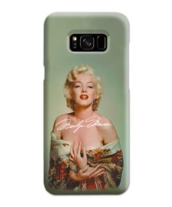 Marilyn Monroe Poster Signature for Samsung Galaxy S8 Plus Case