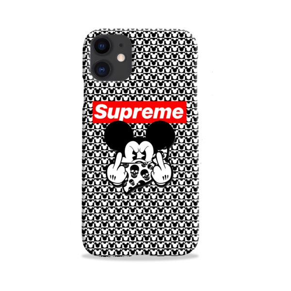 Mickey Mouse Gangster Supreme iPhone 11 Case