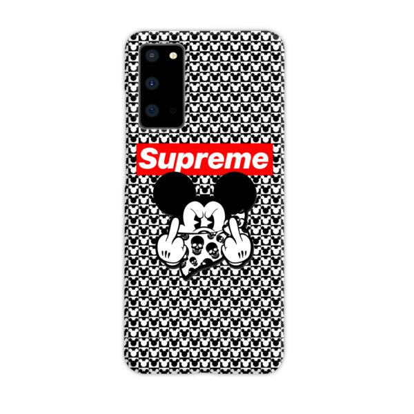 Mickey Mouse Gangster Supreme Samsung Galaxy S20 Case