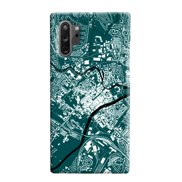 North Yorkshire England Map Samsung Galaxy Note 10 Plus Case
