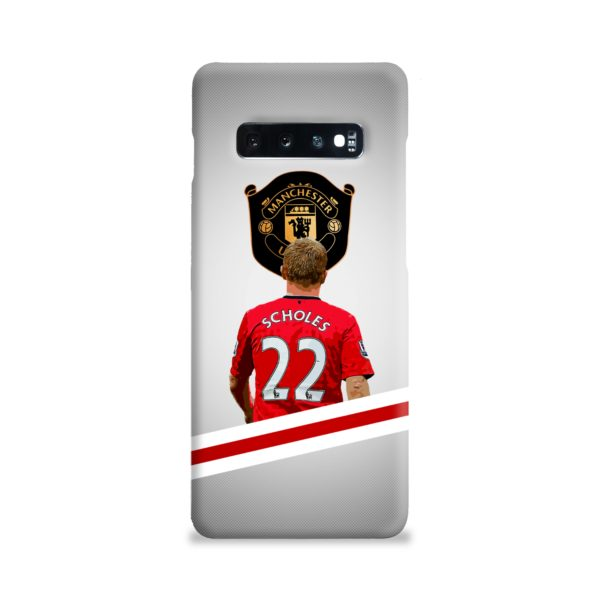 Paul Scholes MU FC Samsung Galaxy S10 Plus Case