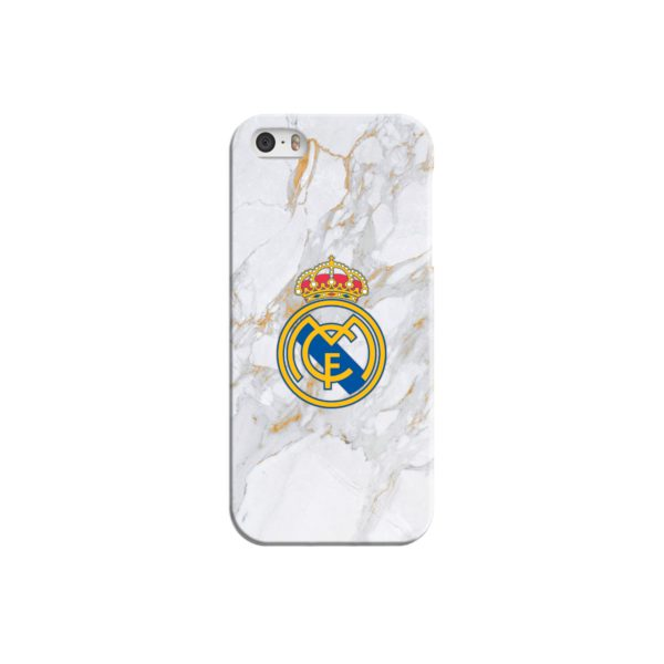 Real Madrid FC White Gold Marble iPhone 5 Case