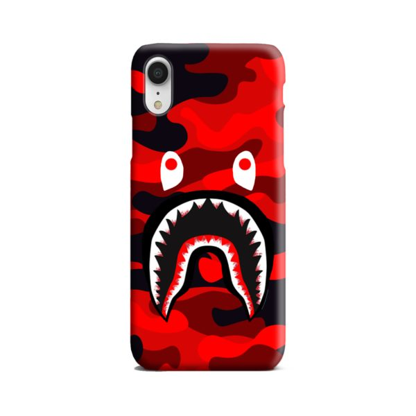 Shark Mouth Off Bape Red Camou iPhone XR Case