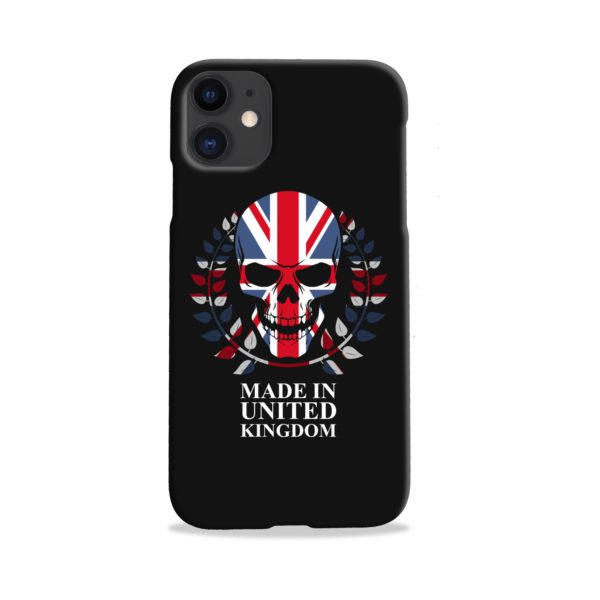 United Kingdom Skull Tattoo iPhone 11 Case