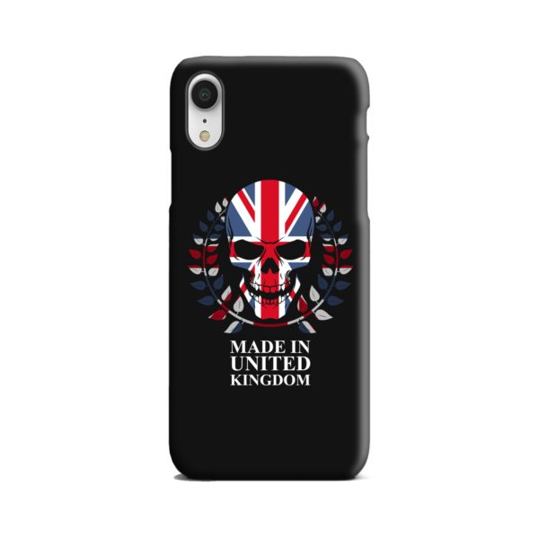 United Kingdom Skull Tattoo iPhone XR Case