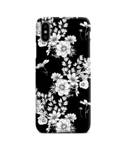 White Leaves Poppy Flowers iPhone X / XS Case