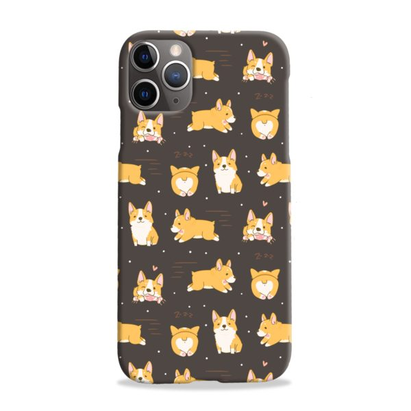 Corgi Dogs Pack Cute Kawaii Cartoon iPhone 11 Pro Max Case