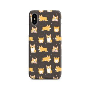 Corgi Dogs Pack Cute Kawaii Cartoon iPhone X / XS Case