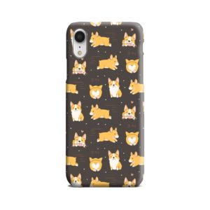 Corgi Dogs Pack Cute Kawaii Cartoon iPhone XR Case