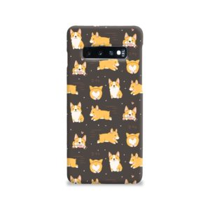 Corgi Dogs Pack Cute Kawaii Cartoon Samsung Galaxy S10 Case