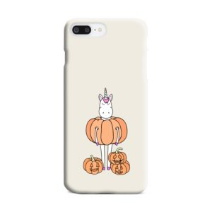 Funny Unicorn Pumpkin iPhone 7 Plus Case