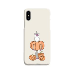 Funny Unicorn Pumpkin iPhone X / XS Case