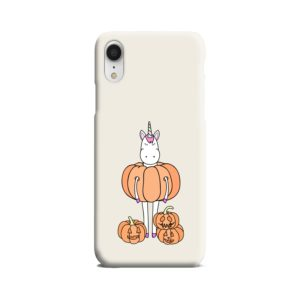 Funny Unicorn Pumpkin iPhone XR Case