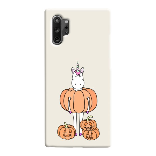 Funny Unicorn Pumpkin Samsung Galaxy Note 10 Case