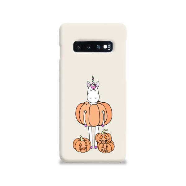 Funny Unicorn Pumpkin Samsung Galaxy S10 Case