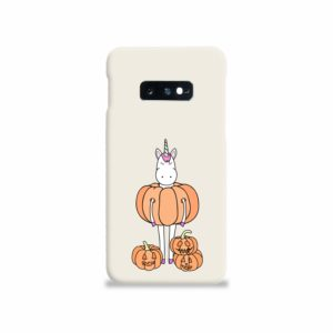 Funny Unicorn Pumpkin Samsung Galaxy S10e Case