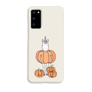 Funny Unicorn Pumpkin Samsung Galaxy S20 Case