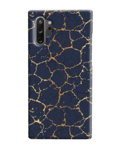 Gold Marble Crackle Samsung Galaxy Note 10 Plus Case