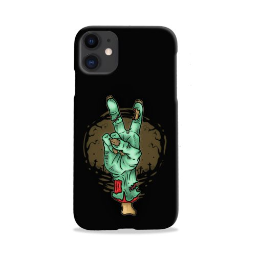 Hand Peace Sign iPhone 11 Case