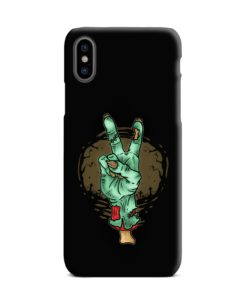 Hand Peace Sign iPhone XS Max Case