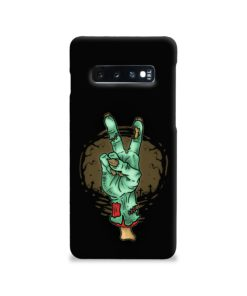 Hand Peace Sign Samsung Galaxy S10 Case