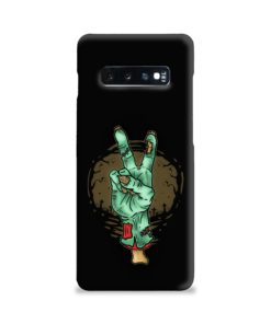 Hand Peace Sign Samsung Galaxy S10 Plus Case